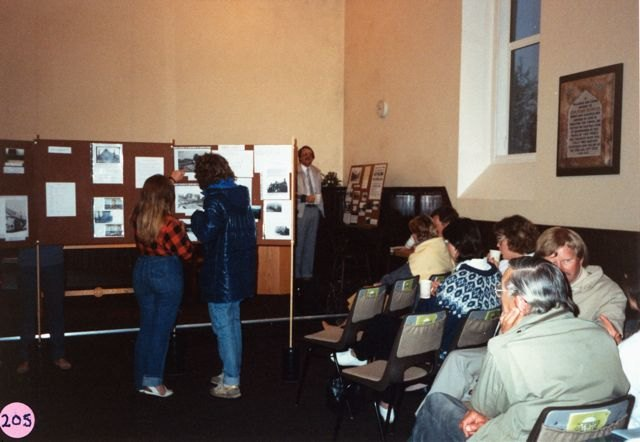 7 May 1987: 'Houses' meeting in the chapel.