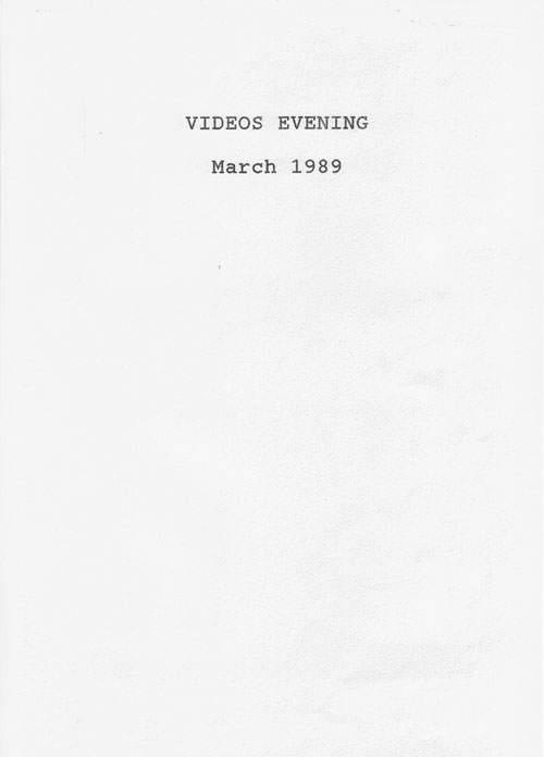 1989 Videos evening.