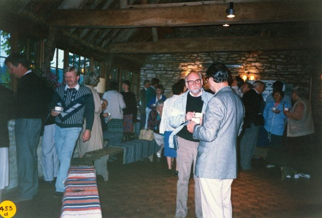 June 1990: Meeting with other local history groups in the Barn at Church Farm.