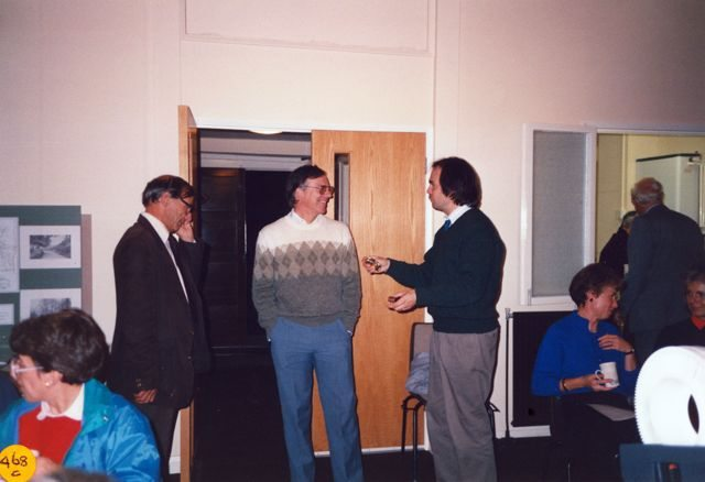 September 1990: Parish Package Lectures. Diana Lynch, Dick Martin, Devril Page, Keith Ray, Jan Allen.
