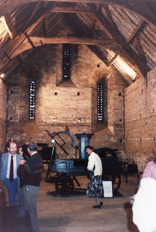 September 1991 Visit to the opening of Swalcliffe Barn. Audrey Martin