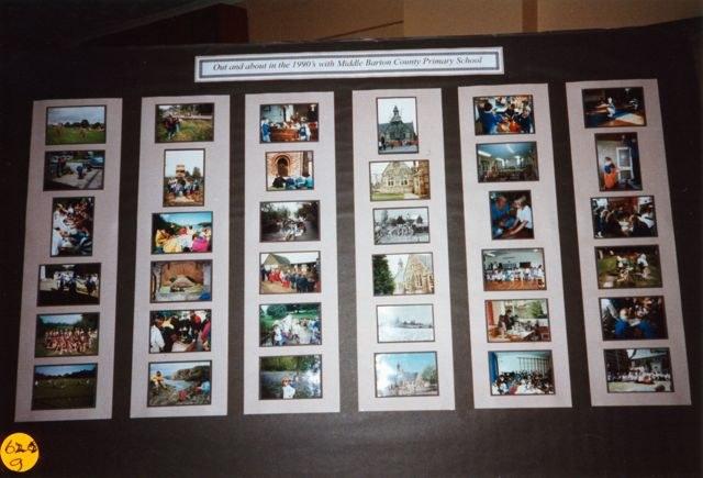 November 1997 School exhibition. Board set up by school.