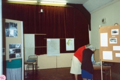 11 October 1986: Exhibition: Bartons in the 1920s. Madge Byford, Ruth Kirby. Mary Page behind the screen.