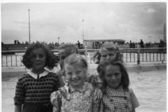 Back row: Ruby Hazell, Jill Simson and Dorothy Chilton.Front row: Joy Chilton and Jenny Read.