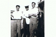Sunday School Coach Drivers. Left to right: Jack Smith, Harry Stevens, Derrick Jarvis.