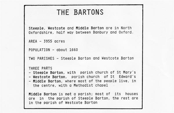 The Bartons - Parish details.