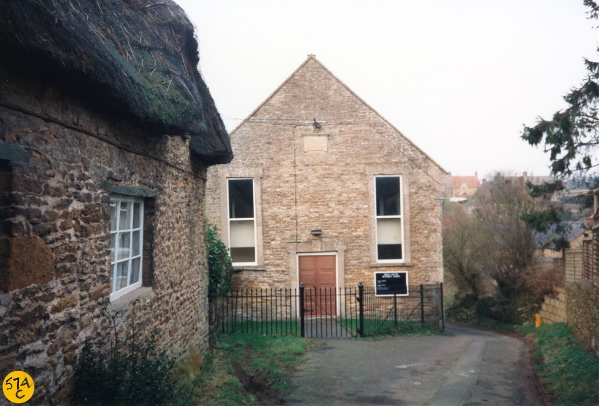 March 1989 Primitive Methodist Chapel. Photograph taken by a pupil of Middle Barton School when pupils were making a record of some of the buildings in Middle Barton.