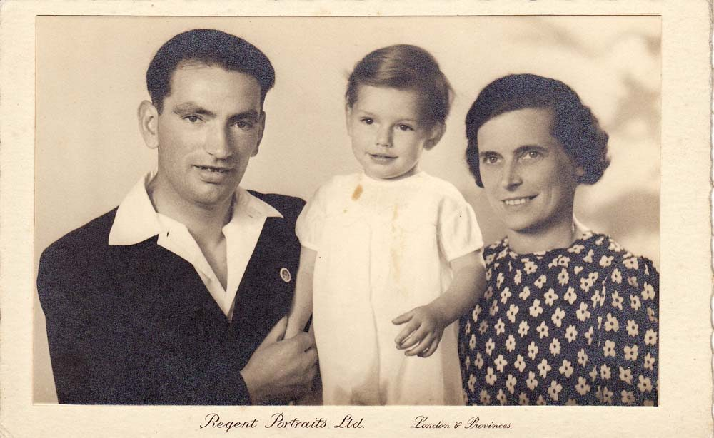 1940/41 Valentine, Derek and Ethel Gardner.