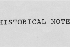 Historical Note.