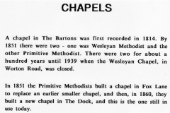 The Bartons - History of the Chapels.