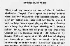 Memories by Miss Ruth Kirby.