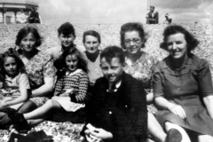 c. 1940 Back: Margaret Hazell, Fred Hazell, Florrie Hazell, Margaret Allen, Gina Hollywood. Front: Jenny Reed, Ruby Hazell, Brian Hazell.
