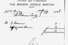 January 1 1948 Miss Kirby buys loaves and buns from Pilling's bakers for a childrens party.