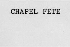 1991 Chapel Fete.