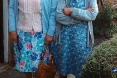 July 1992 End of season Methodist Dashwood House meeting at Miss Ruth Kirby's. Mrs. G. Cox, Miss Ruth Kirby.