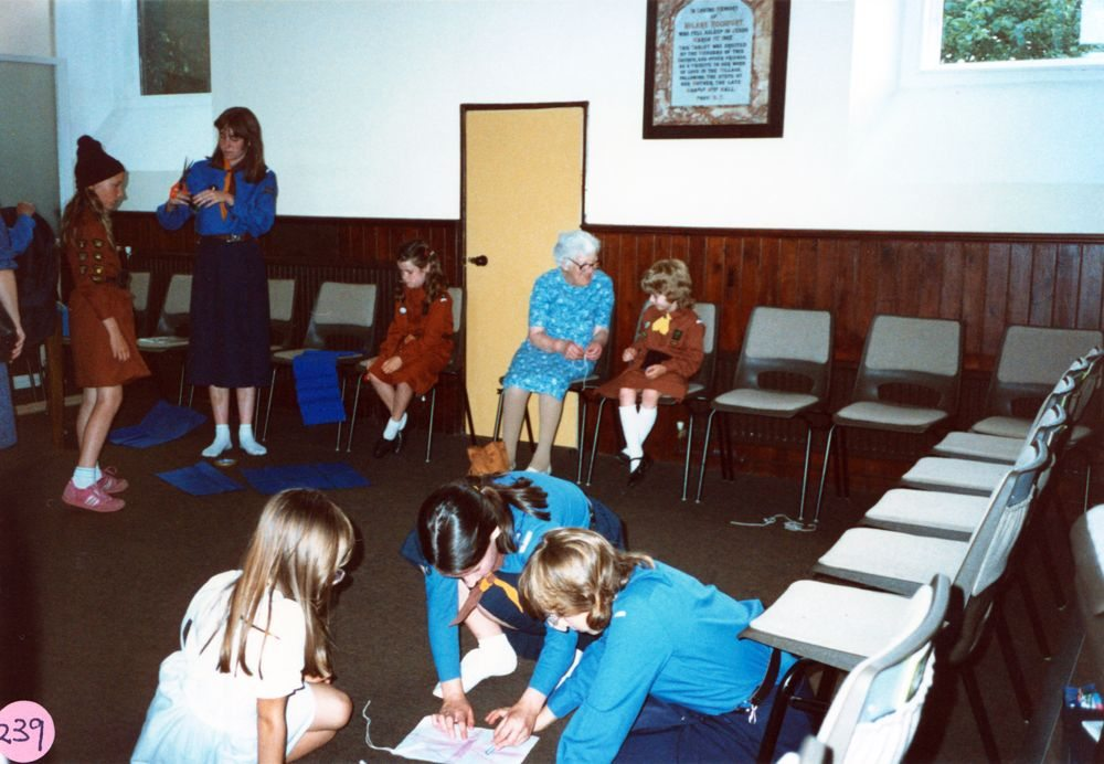 July 1987 Guides and Brownies Open Meeting.