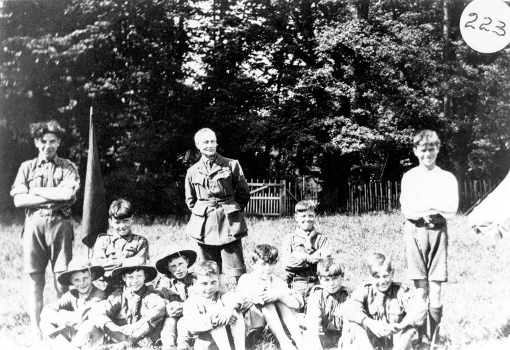 1923 Scouts at Gilwell Park.