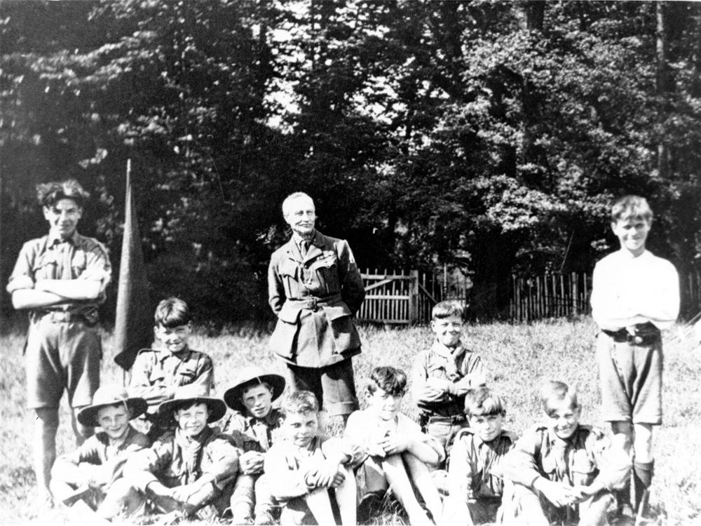 1923 Scouts at Gilwell Park. (enlargement).