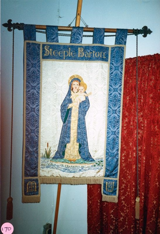 December 1986 Mothers Union banner at St. Mary's Church, Steeple Barton.