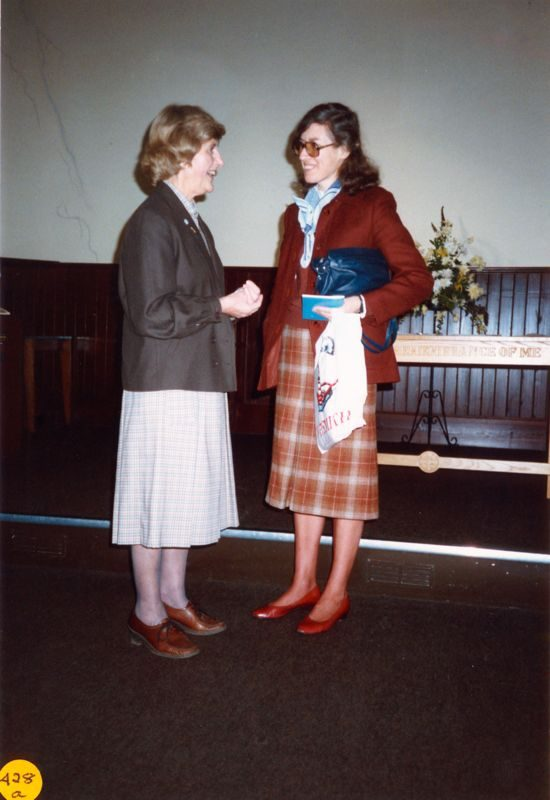 5 December 1989 Mothers Union: Presentation of '50' years membership certificates.