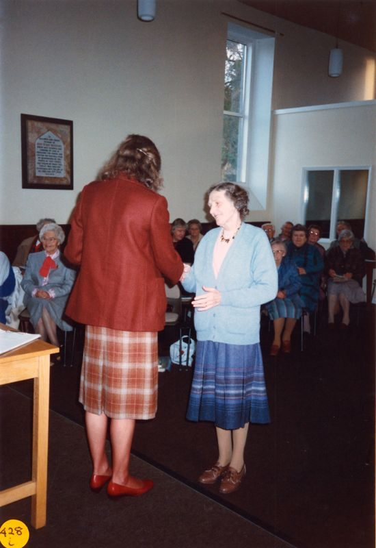 5 December 1989 Presentation of certificates. Rosemary Pierce and Mary West.