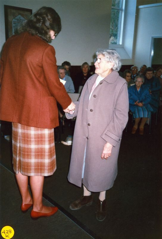5 December 1989 Presentation of certificates. Rosemary Pierce and Ruby Pratley.