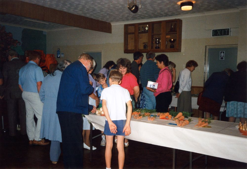 1991 Flower and Vegetable Show held by Bartons and District Horticultural Society.