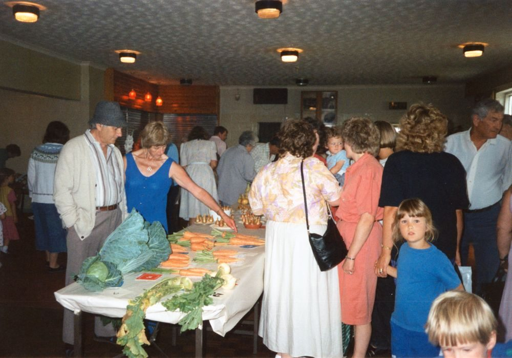 1991 Flower and Vegetable Show held by Bartons and District Horticultural Society. Stan and Jeanne Allington.