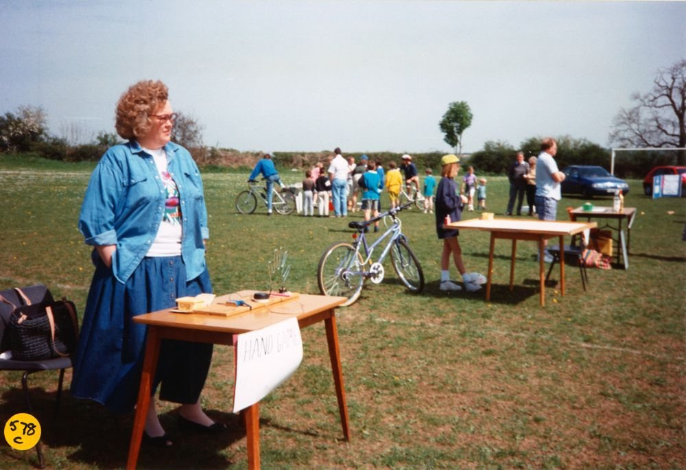 1994 Playgroup May Day Fete.Anna Madden and Michael Horwood-Smith.