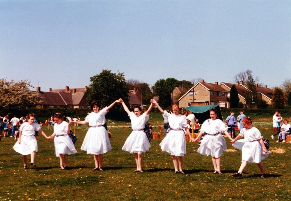 1994 Playgroup May Day Fete. Thessa Madden third from right.