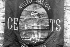 1884 Banner of the Church of England Temperance Society. Found, rolled up, in the Alice Marshall Hall by members of the Drama Group in 1989.