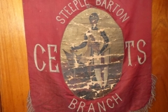 1884 Banner of the Church of England Temperance Society. 2017 photograph.