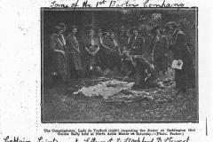c. 1925 Deddington Girl Guides' Rally. Lady de Trafford inspecting the dinner. Captain, Leiutenant E Stewart, D Stockford, D Stewart, Getrude Reeves, Molly Smith, Majorie Smith.