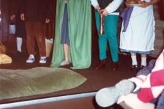 12 March 1992 Guides Pantomine. L to R: Gemma Clark, Jenny Oswald, Holly Watts, Emma Jones.