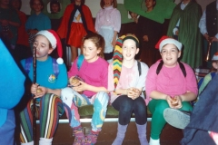 12 March 1992 Guides Pantomine. L to R: Holly Roberts, Lucy Horne, Catherine Conway, Kelly Haupt.