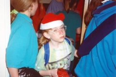12 March 1992 Guides Pantomine. Getting ready.