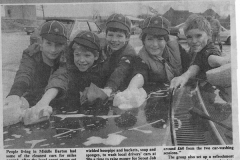 July 1986 Cub/Scouts car wash. L to R: Oliver Pattie, Marc Newman, James Grough, Andrew Timms and Warren Outtridge.