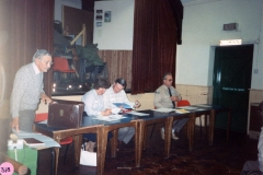 June 1988 Cub/Scout AGM. Mick Sterling, Shiela Tumman, Austin Jones and Chris Gregory.