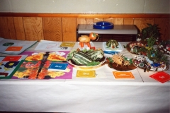 1991 Flower and Vegetable Show held by Bartons and District Horticultural Society. Childrens classes.