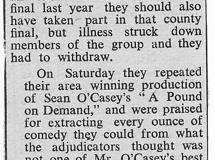 1963. Middle Barton win Youth Drama Festival.