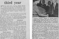 1964. Middle Barton win Youth Drama Festival.