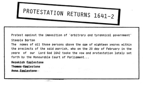1641-42 Protestation Returns (Charles I).