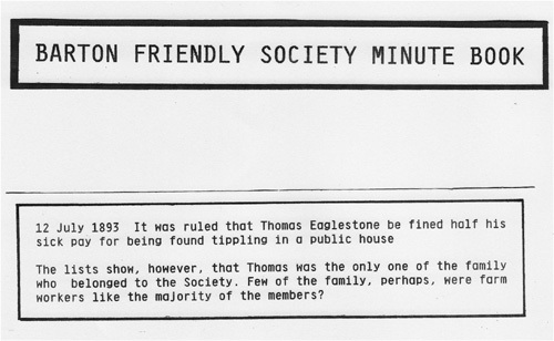 July 12 1893 Barton Friendly Society Minute Book.
