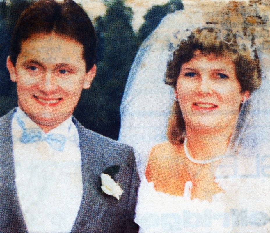 October 1986 Oxford Mail. Marriage of Charles Eaglestone and Karen Golder.