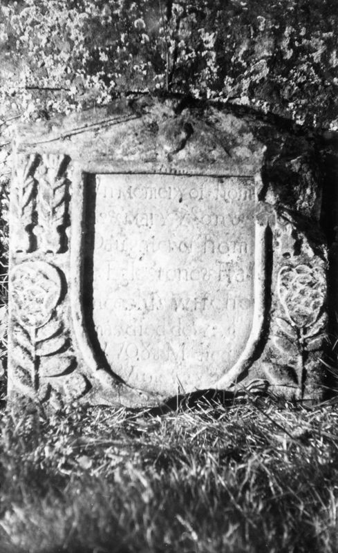In memory of Thomas & Mary ye Son . Daughter of Thomas Eglestone & Frances his wife Thomas died de… 1708…