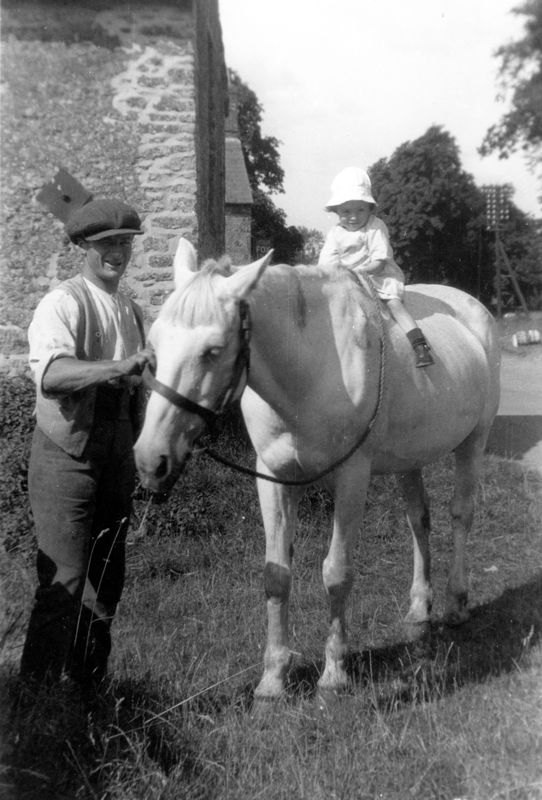 1920s Near the Fox Inn with Roy? on a pony.