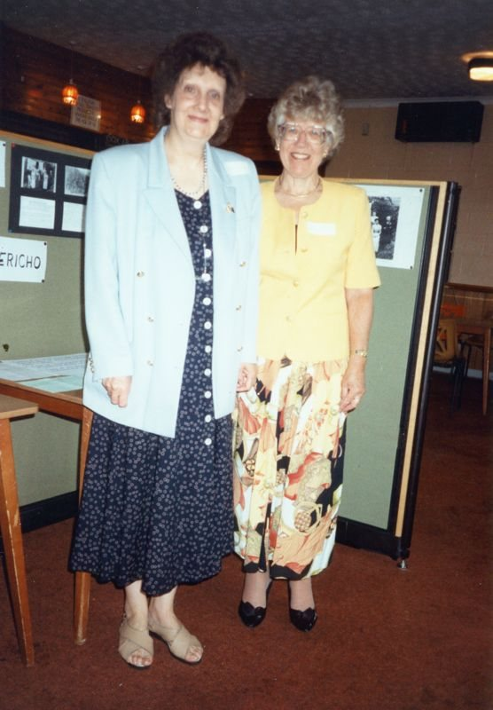 July 15 1995 Eaglestone family day - Sheila Rawlins and Hazel Eaglestone - organisers.