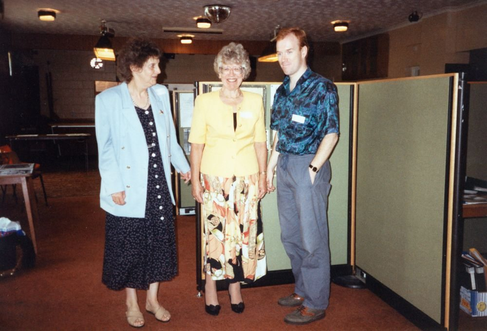 July 15 1995 Eaglestone family day - Sheila Rawlins, Hazel Eaglestone and Aidan Eaglestone.