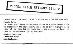 1641-42 Protestation Returns (Charles I).