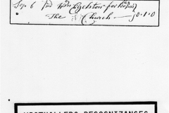 Undated. Constable's Accounts. Payment to William Egelston for Church repair.
